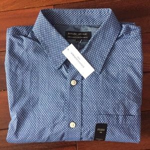 Mens Banana Republic Med. Stand. Fit Long Sleeve
